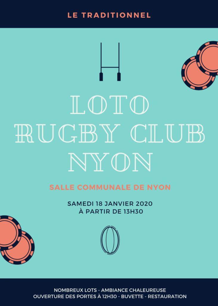 Rugby Club Loto Bingo 2020 Salle communale de Perdtemps Rue des Marchandises 5, 1260 Nyon