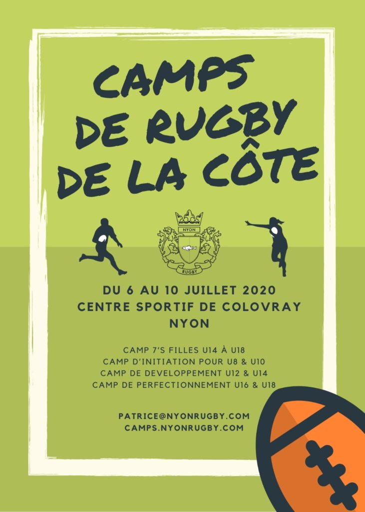 Rugby Club Camps Training Children Terre Saint La Cote Gland